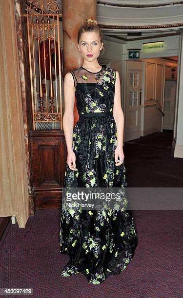 Clemence Poesy attends the British Fashion Awards 2013 at London Coliseum on December 2 2013 in London England