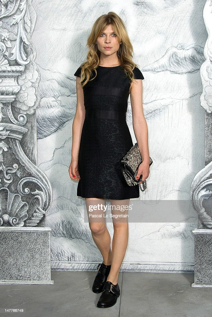 Clemence Poesy attends the Chanel Haute-Couture show as part of Paris Fashion Week Fall / Winter 2012/13 at the Grand Palais on July 3, 2012 in Paris, France.