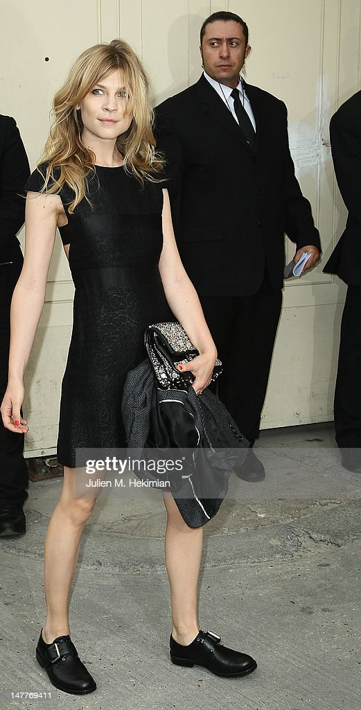 Clemence Poesy attends the Chanel Haute-Couture Show as part of Paris Fashion Week Fall / Winter 2012/13 at Grand Palais on July 3, 2012 in Paris, France.