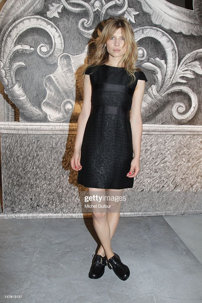 Clemence Poesy attends the Chanel Haute-Couture Show as part of Paris Fashion Week Fall / Winter 2013 at Grand Palais on July 3, 2012 in Paris, France.