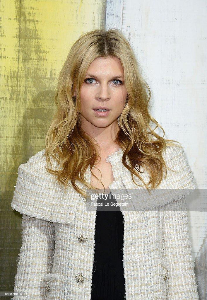 Clemence Poesy attends the Chanel show as part of the Paris Fashion Week Womenswear Spring/Summer 2014 at Grand Palais on October 1, 2013 in Paris, France.