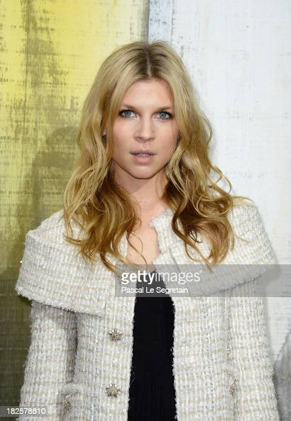 Clemence Poesy attends the Chanel show as part of the Paris Fashion Week Womenswear Spring/Summer 2014 at Grand Palais on October 1 2013 in Paris...