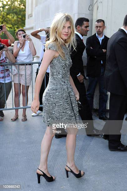 Clemence Poesy attends the Chanel show as part of the Paris Haute Couture Fashion Week Fall/Winter 2011 on July 6 2010 in Paris France