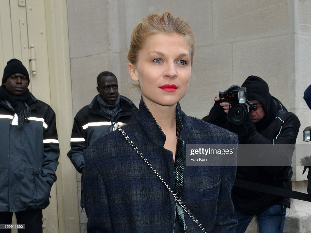 Clemence Poesy attends the Chanel Spring/Summer 2013 Haute-Couture show as part of Paris Fashion Week at Grand Palais on January 22, 2013 in Paris, France.