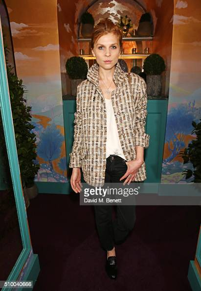 Clemence Poesy attends the Charles Finch and Chanel PreBAFTA cocktail party and dinner at Annabel's on February 13 2016 in London England
