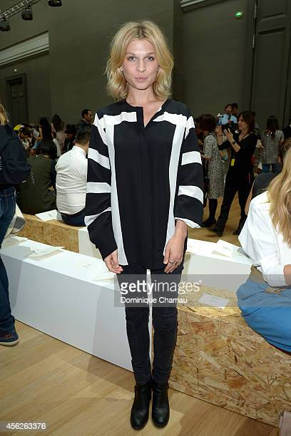 Clemence Poesy attends the Chloe show as part of the Paris Fashion Week Womenswear Spring/Summer 2015 on September 28 2014 in Paris France