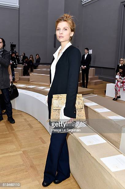 Clemence Poesy attends the Chloe show as part of the Paris Fashion Week Womenswear Fall/Winter 2016/2017 on March 3 2016 in Paris France