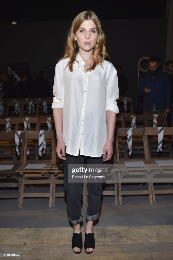 Clemence Poesy attends the H&M Studio show as part of the Paris Fashion Week on March 1, 2017 in Paris, France.