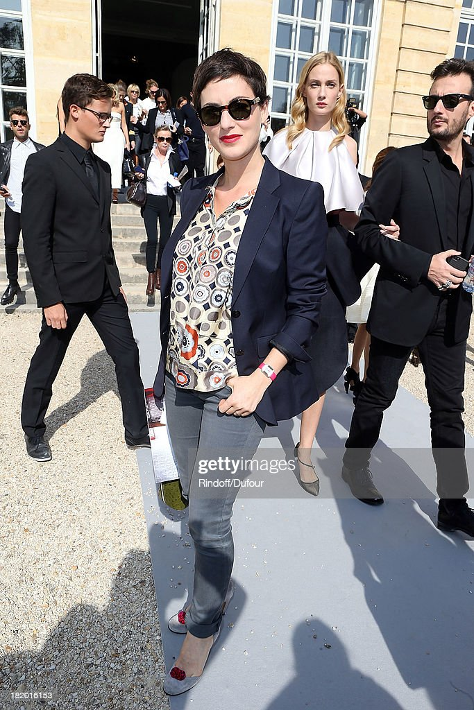 Clemence Thioly arrives Christian Dior show as part of the Paris Fashion Week Womenswear Spring/Summer 2014 on September 27, 2013 in Paris, France.