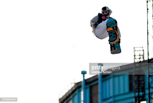 Clemens Schattsheneider from Austria competing in the LG Snowboard International Ski Federation in London