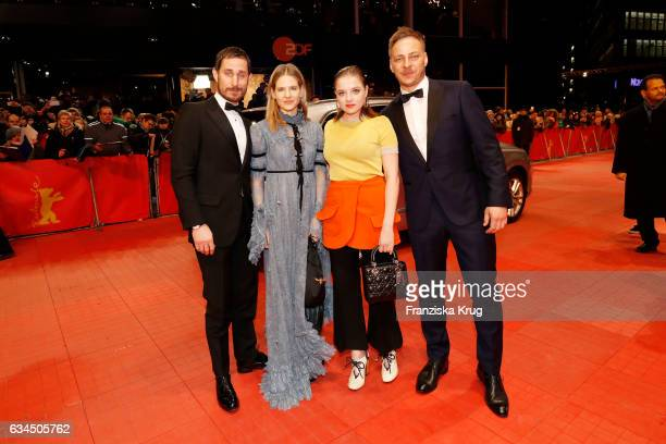 Clemens Schick Aino Laberenz Jella Haase and Tom Wlaschiha attend the 'Django' premiere during the 67th Berlinale International Film Festival Berlin...