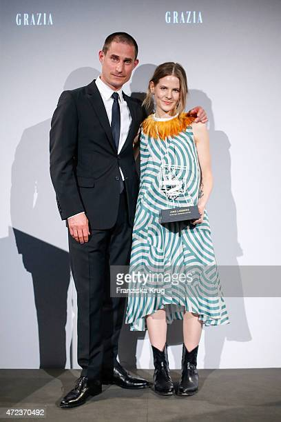 Clemens Schick and Aino Laberenz attends the GRAZIA Best Inspiration Award 2015 on May 06 2015 in Berlin Germany