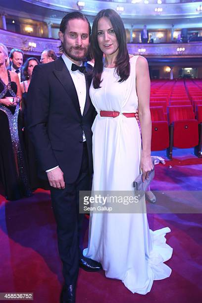 Clemens Schick and Bettina Zimmermann are seen on stage at the GQ Men Of The Year Award 2014 at Komische Oper on November 6 2014 in Berlin Germany