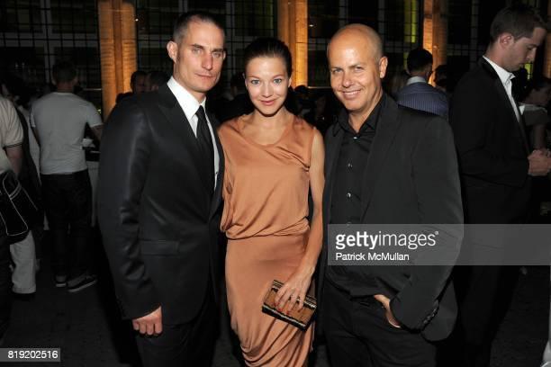 Clemens Schick and Italo Zucchelli attend World of CALVIN KLEIN Party to Kickoff Spring 2011 Berlin Fashion Week at Die Munze on July 7 2010 in...