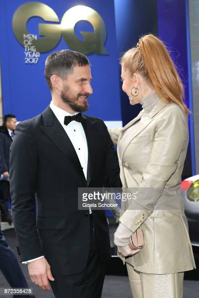 Clemens Schick and Palina Rojinski during the GQ Men of the year Award 2017 at Komische Oper on November 9 2017 in Berlin Germany