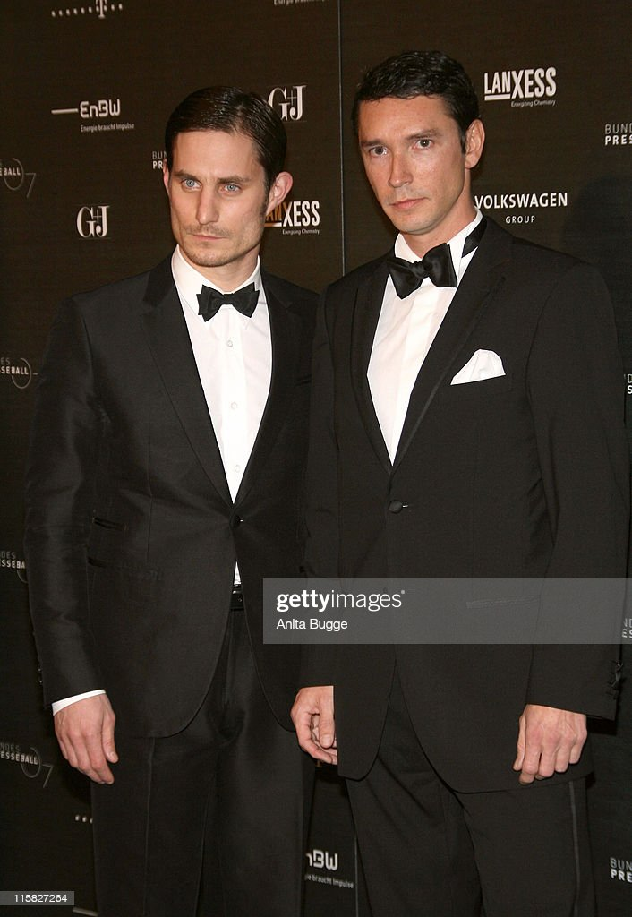 Clemens Schick and Sascha Schwinge attend the annual German media ball 'Bundespresseball' on November 23 2007 in Berlin Germany