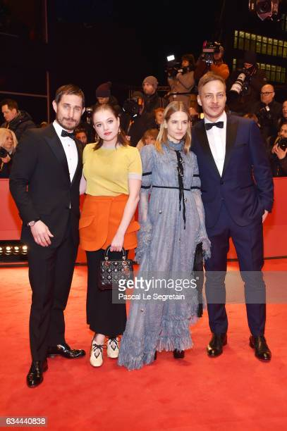 Clemens Schick Jella Haase Aino Laberenz and Tom Wlaschiha attend the 'Django' premiere during the 67th Berlinale International Film Festival Berlin...