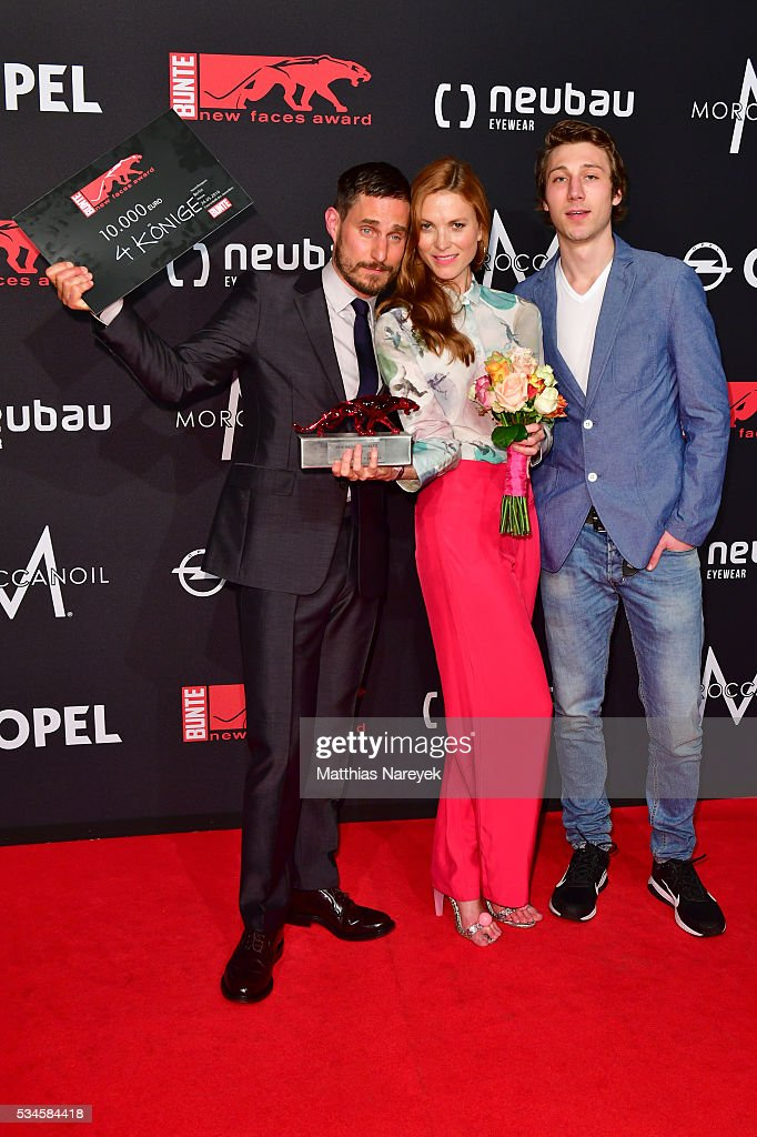 <a gi-track='captionPersonalityLinkClicked' href=/galleries/search?phrase=Clemens+Schick&family=editorial&specificpeople=4029135 ng-click='$event.stopPropagation()'>Clemens Schick</a>, Theresa von Eltz and Moritz Leu during the New Faces Award Film 2015 at ewerk on May 26, 2016 in Berlin, Germany.