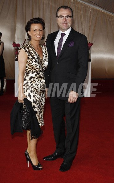Clemens Toennies And Wife Margit Toennies Attend The Annual
