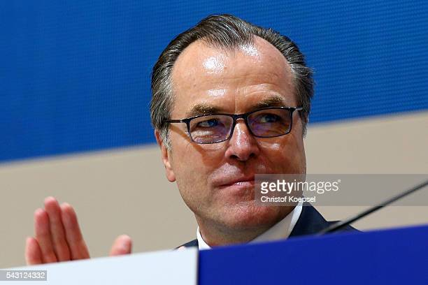 Clemens Toennies chairman of the board attends the FC Schalke 04 general assembly at Veltins Arena on June 26 2016 in Gelsenkirchen Germany