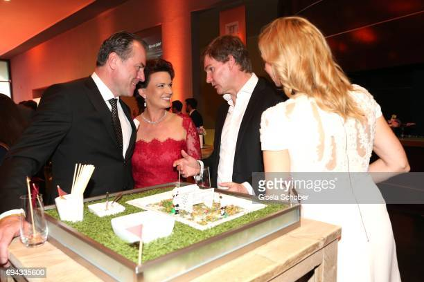 Clemens Toennies manager of Schalke 04 and his wife Margit Toennies Carsten Maschmeyer and his wife Veronica Ferres during the Toni Kroos charity...