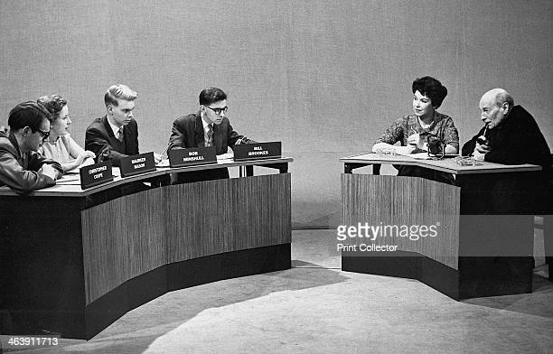 Clement Atlee British Labour statesman Attlee after retiring in 1955 answering questions from young people on a radio programme called We Want...