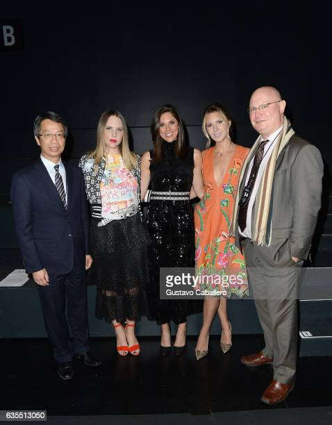 Clement C M Leung Elizabeth Huntsman Abby Huntsman Mary Anne Huntsman and a guest attend Vivienne Tam FW2017 Runway Show show at Gallery 1 Skylight...