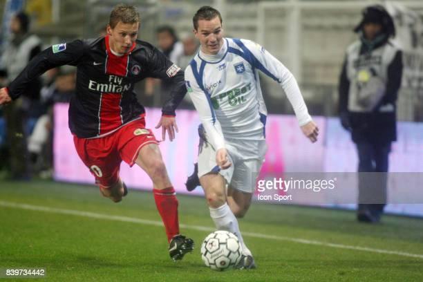 Clement CHANTOME / Kevin LEJEUNE Auxerre / PSG 17 eme journee de Ligue 1