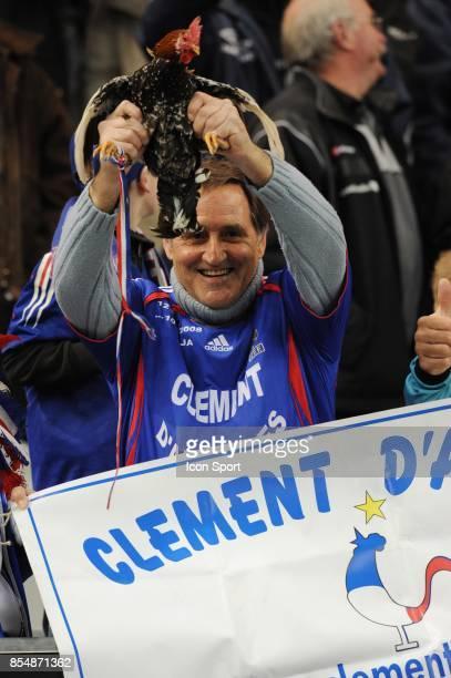 Clement d'Antibes et son Coq Balthazar France / Lituanie Eliminatoire de la Coupe du Monde 2010