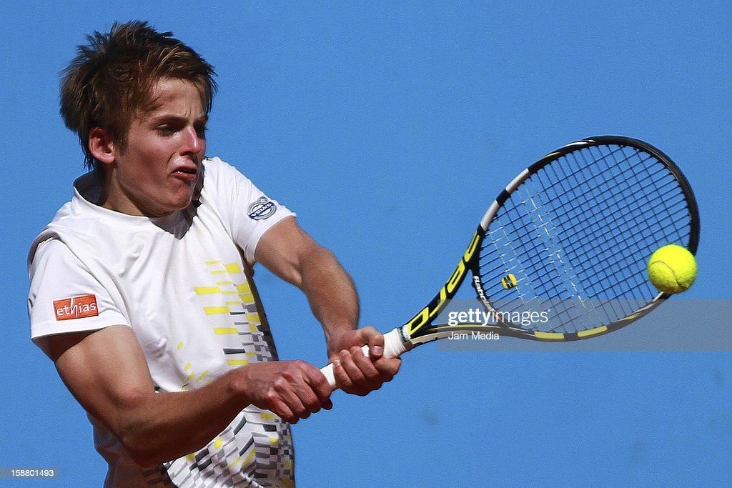 Clement Geens of Belgica, in action during the Mexican Youth Tennis Open at Deportivo Chapultepec on December 28, 2012 in Mexico City, Mexico.