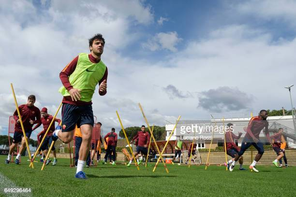 Clement Grenier attends an AS Roma training session at Centro Sportivo Fulvio Bernardini on March 7 2017 in Rome Italy