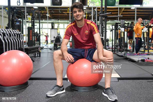 Clement Grenier attends an AS Roma training session at Centro Sportivo Fulvio Bernardini on April 12 2017 in Rome Italy