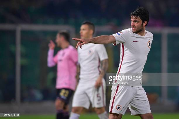 Clement Grenier of AS Roma during the Serie A match between US Citta di Palermo and AS Roma at Stadio Renzo Barbera on March 12 2017 in Palermo Italy