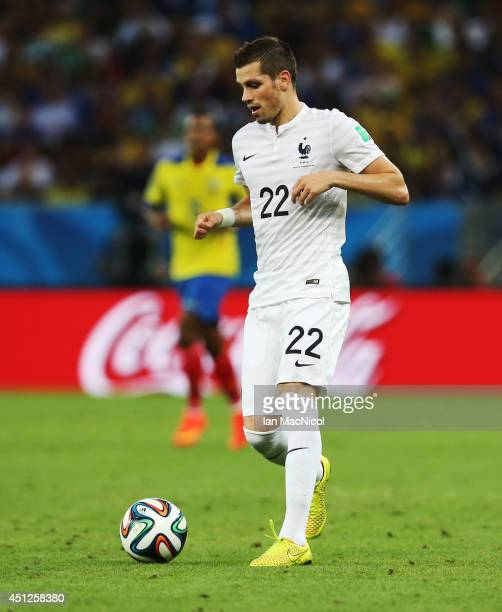 Clement Grenier of France controls the ball during the 2014 FIFA World Cup Brazil Group E match between Ecuador and France at the Estadio Maracana on...