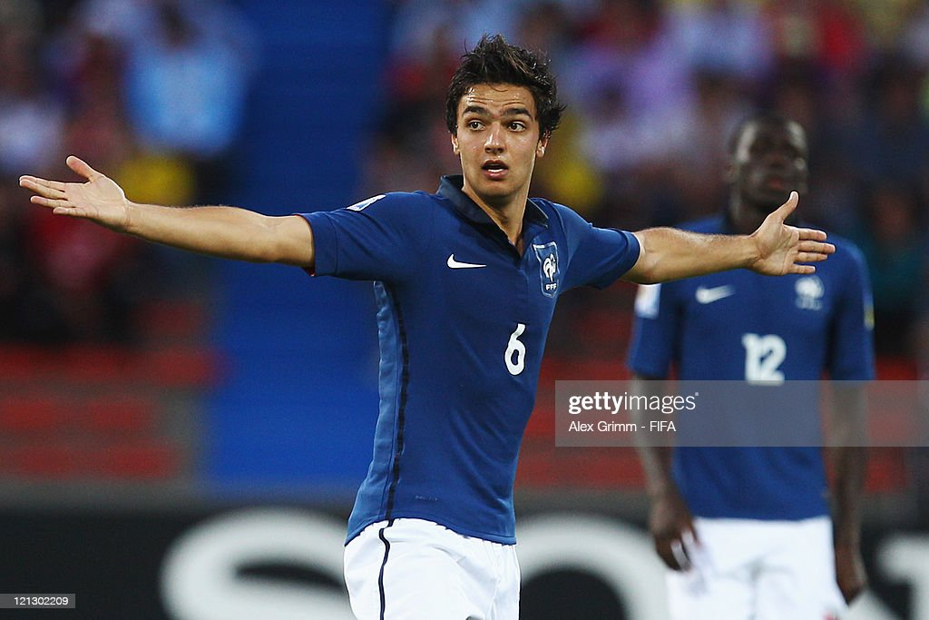 <a gi-track='captionPersonalityLinkClicked' href=/galleries/search?phrase=Clement+Grenier&family=editorial&specificpeople=5774493 ng-click='$event.stopPropagation()'>Clement Grenier</a> of France reacts during the FIFA U-20 World Cup 2011 semi final match between France and Portugal at Estadio Atanasio Girardot on August 17, 2011 in Medellin, Colombia.