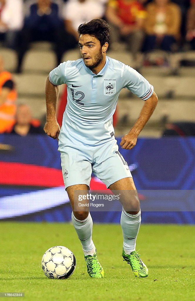<a gi-track='captionPersonalityLinkClicked' href=/galleries/search?phrase=Clement+Grenier&family=editorial&specificpeople=5774493 ng-click='$event.stopPropagation()'>Clement Grenier</a> of France runs with the ball during the International friendly match between Belgium and France at the King Baudouin Stadium on August 14, 2013 in Brussels, Belgium.