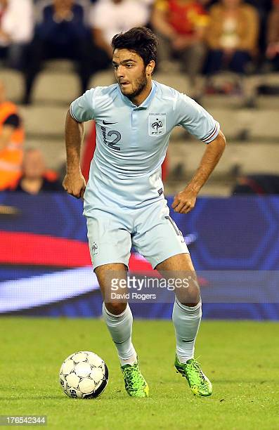 Clement Grenier of France runs with the ball during the International friendly match between Belgium and France at the King Baudouin Stadium on...