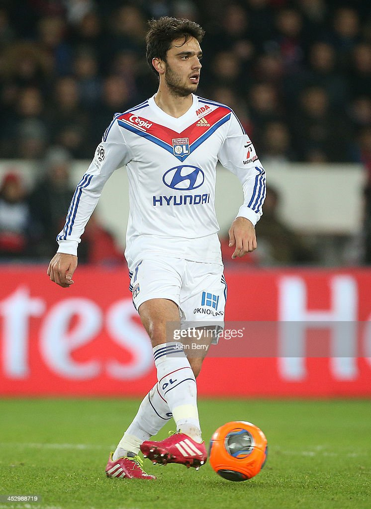 <a gi-track='captionPersonalityLinkClicked' href=/galleries/search?phrase=Clement+Grenier&family=editorial&specificpeople=5774493 ng-click='$event.stopPropagation()'>Clement Grenier</a> of Lyon in action during the French Ligue 1 match between Paris Saint-Germain FC and Olympique Lyonnais at the Parc des Princes stadium on December 1, 2013 in Paris, France.