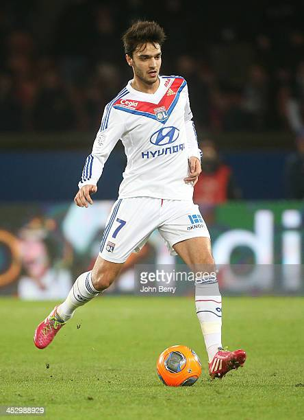 Clement Grenier of Lyon in action during the French Ligue 1 match between Paris SaintGermain FC and Olympique Lyonnais at the Parc des Princes...