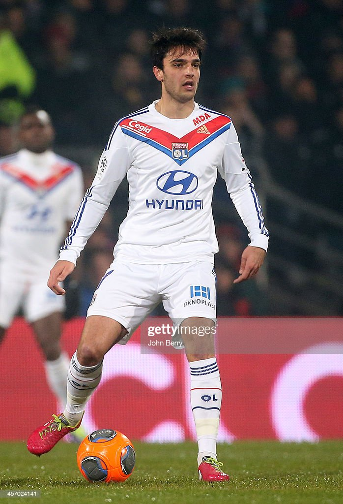 <a gi-track='captionPersonalityLinkClicked' href=/galleries/search?phrase=Clement+Grenier&family=editorial&specificpeople=5774493 ng-click='$event.stopPropagation()'>Clement Grenier</a> of Lyon in action during the french Ligue 1 match between Olympique Lyonnais, OL, and Olympique de Marseille, OM, at the Stade Gerland on December 15, 2013 in Lyon, France.