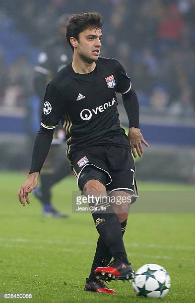 Clement Grenier of Lyon in action during the UEFA Champions League match between Olympique Lyonnais and Sevilla FC at Parc OL on December 7 2016 in...