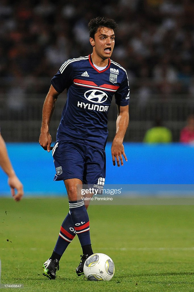 <a gi-track='captionPersonalityLinkClicked' href=/galleries/search?phrase=Clement+Grenier&family=editorial&specificpeople=5774493 ng-click='$event.stopPropagation()'>Clement Grenier</a> of Olympique Lyonnais in action during the Pre Season match between Olympique Lyonnais and Real Madrid at Gerland Stadium on July 24, 2013 in Lyon, France.