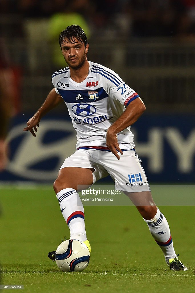 <a gi-track='captionPersonalityLinkClicked' href=/galleries/search?phrase=Clement+Grenier&family=editorial&specificpeople=5774493 ng-click='$event.stopPropagation()'>Clement Grenier</a> of Olympique Lyonnais in action during the preseason friendly match between Olympique Lyonnais and AC MIlan at Gerland Stadium on July 18, 2015 in Lyon, France.