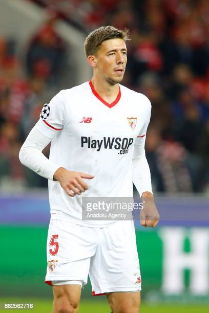 Clement Lenglet of Sevilla is seen during the UEFA Champions League match between Spartak Moscow and Sevilla FC at Spartak Stadium in Moscow Russia...