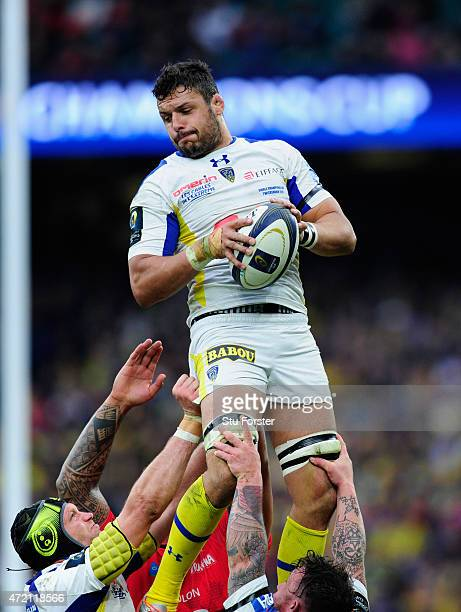 Clement player Damien Chouly in action during the European Rugby Champions Cup Final between ASM Clermont Auvergne and RC Toulon at Twickenham...