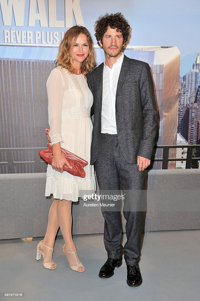 Clement Sibony and Crystal Shepherd-Cross attend the 'The Walk: Rever Plus Haut' Paris premiere at Cinema UGC Normandie on October 6, 2015 in Paris, France.