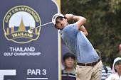 Clement Sordet of France plays the shot during the final round of the 2015 Thailand Open at Amata Spring Country Club on December 13 2015 in Chon...