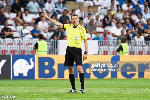 Clement Turpin referee during the International Friendly match between Italy and Uruguay on June 7 2017 in Nice France