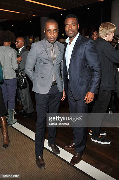 Clement Virgo and Lyriq Bent attend The Book Of Negroes Launch Party at TIFF Bell Lightbox on November 18 2014 in Toronto Canada
