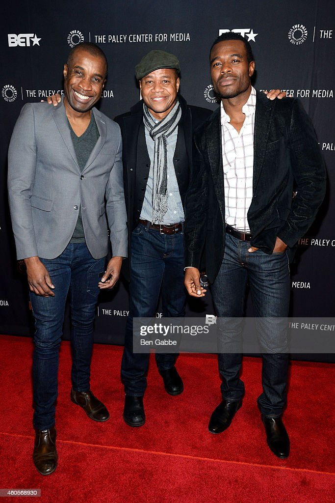 Clement Virgo, Cuba Gooding Jr. and Lyriq Bent attend 'The Book Of Negroes' Screening at The Paley Center for Media on December 16, 2014 in New York City.